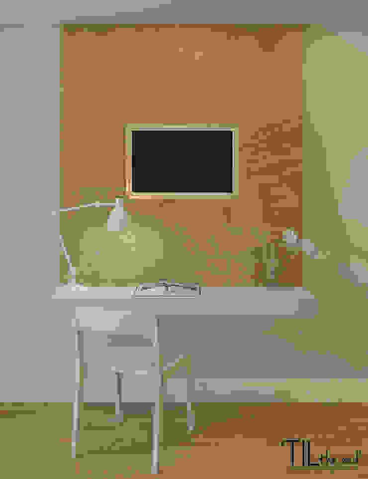 Room 1 Hotéis escandinavos por Lagom studio Escandinavo Madeira Acabamento em madeira
