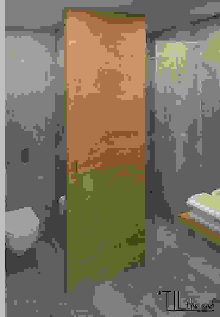 Room 1 wc Hotéis industriais por Lagom studio Industrial Betão