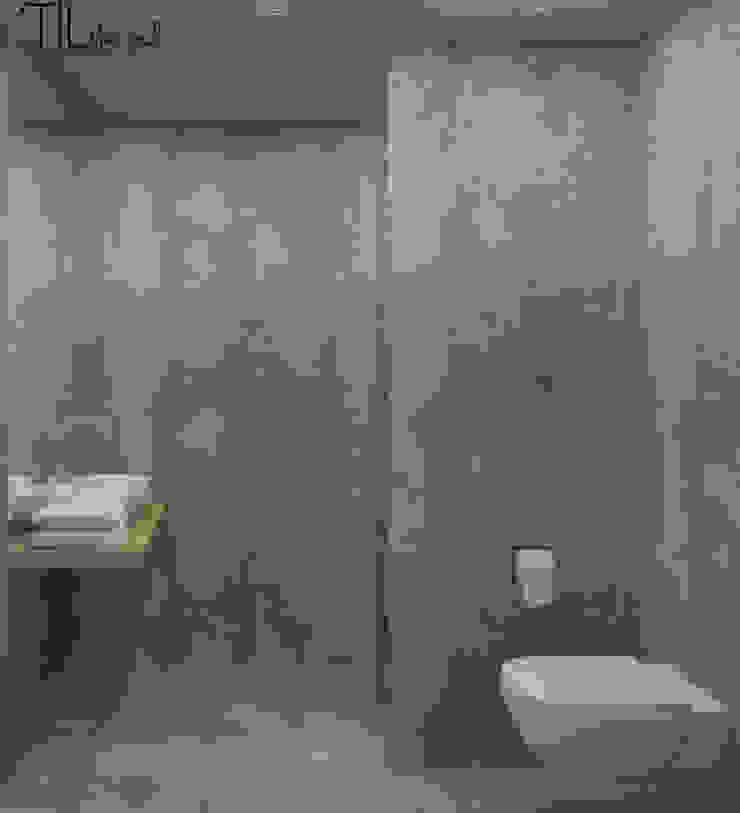 Room 2 wc Hotéis industriais por Lagom studio Industrial Betão
