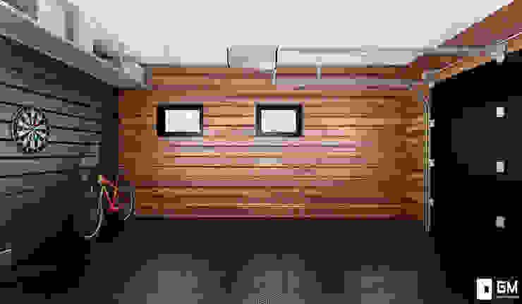 Гостевой домик с гаражом Гараж в скандинавском стиле от GM-interior Скандинавский
