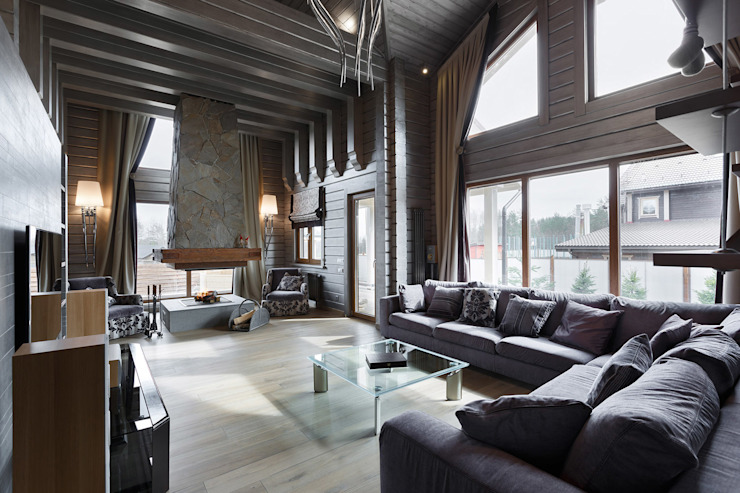 Courchevel in my pocket Country style living room by artstyle Country Wood Wood effect