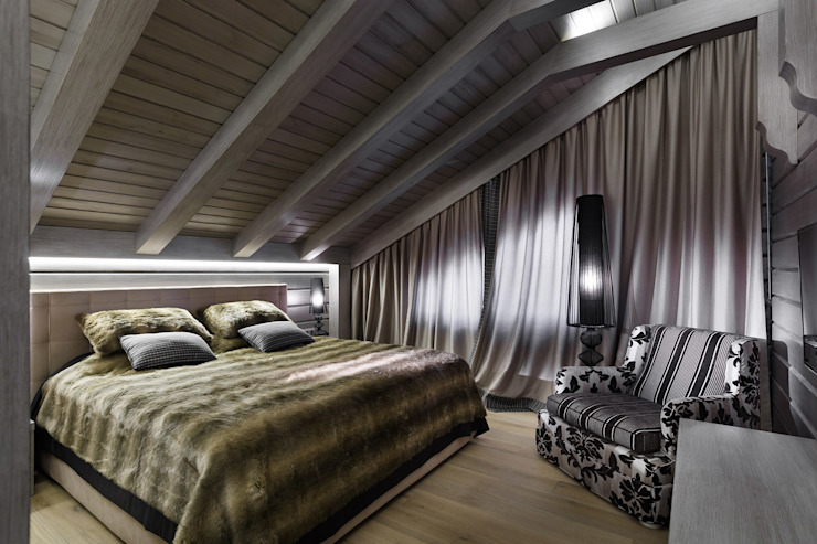 Courchevel in my pocket Country style bedroom by artstyle Country Wood Wood effect