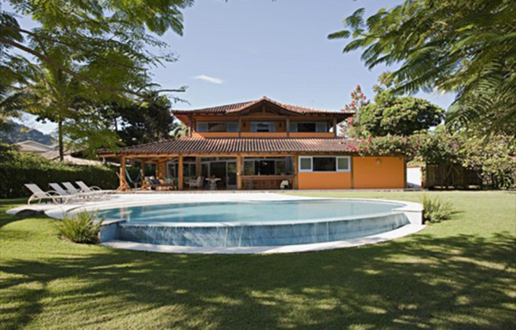 RESIDÊNCIA AG Casas rústicas por MADUEÑO ARQUITETURA & ENGENHARIA Rústico