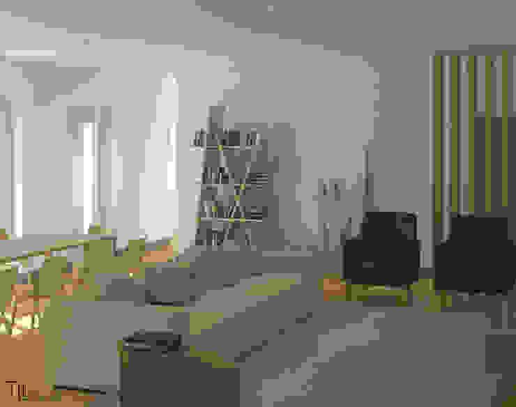 Living room Minimalist living room by Lagom studio Minimalist Wood Wood effect