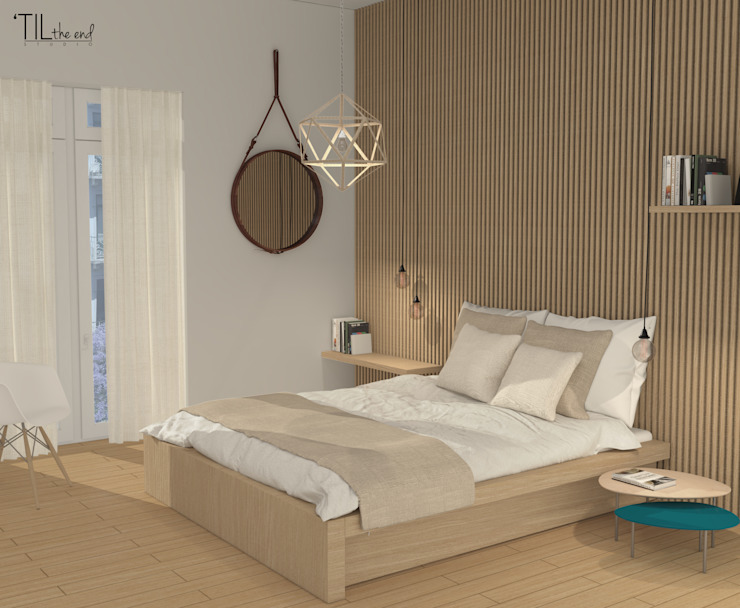 Room 1 Scandinavian style bedroom by Lagom studio Scandinavian Wood Wood effect