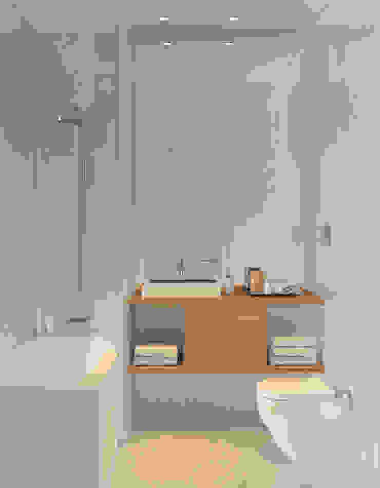 Bathroom 1 Casas de banho minimalistas por Lagom studio Minimalista Betão