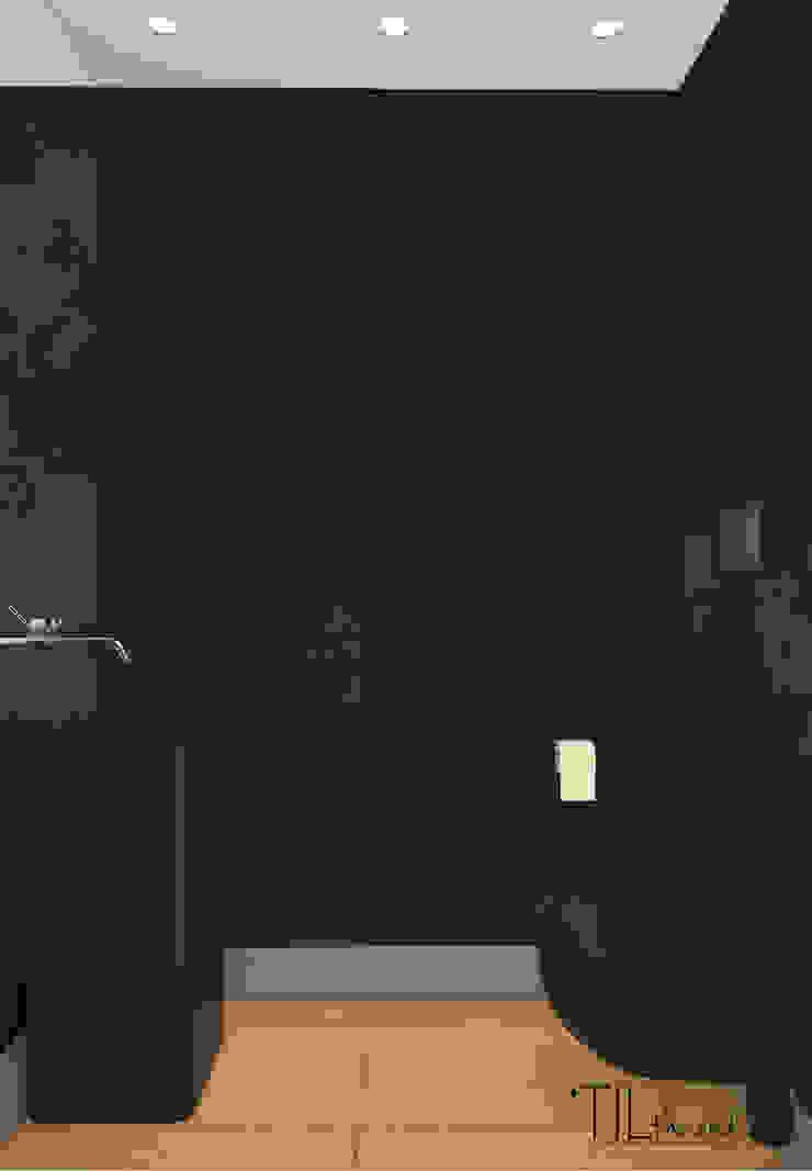 Social bathroom Casas de banho modernas por Lagom studio Moderno Azulejo