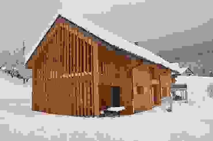 Maison 2S FAVRE LIBES Architectes Maisons modernes Bois