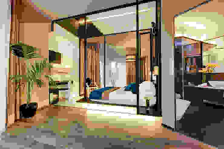 Suite Hotel moderni di FAUSTO DI ROCCO ARCHITETTO Moderno Legno Effetto legno