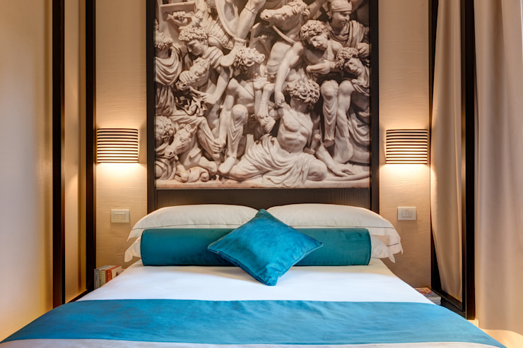 Camera matrimoniale Hotel moderni di FAUSTO DI ROCCO ARCHITETTO Moderno Legno Effetto legno