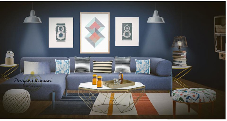 Modern living room by Devyani Kumari Lifestyle & Designs Modern