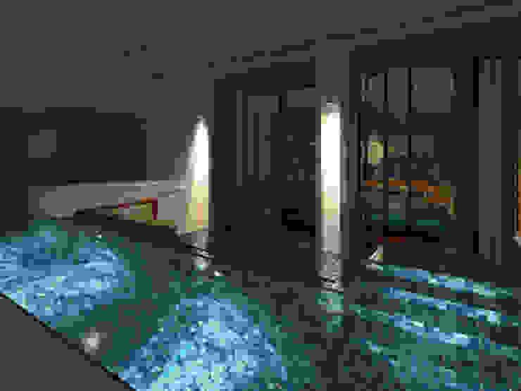 Divyashree Modern pool by Sanctuary Modern