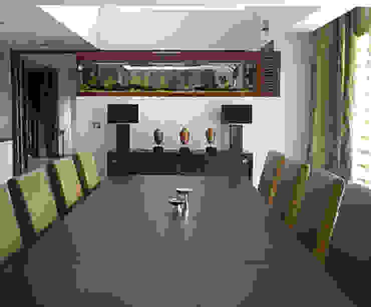 Shanmugham Residence Modern dining room by Sanctuary Modern