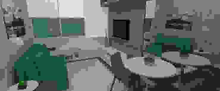 Quitinete descolada por Carolina Mendonça Projetos de Arquitetura e Interiores LTDA