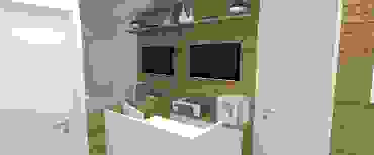 Recepção clínica de dentista por Carolina Mendonça Projetos de Arquitetura e Interiores LTDA