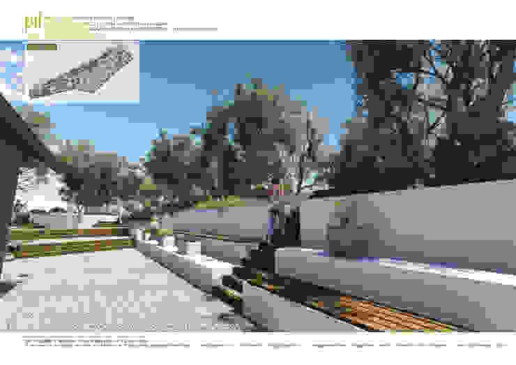 Datça'da Konut Peyzajı Akdeniz Bahçe Pil Tasarım Mimarlik + Peyzaj Mimarligi + Ic Mimarlik Akdeniz Ahşap Ahşap rengi