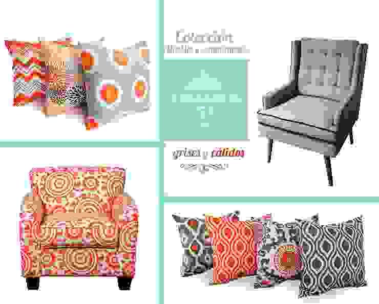 Cojines Gray & Orange de Franko & Co. Moderno