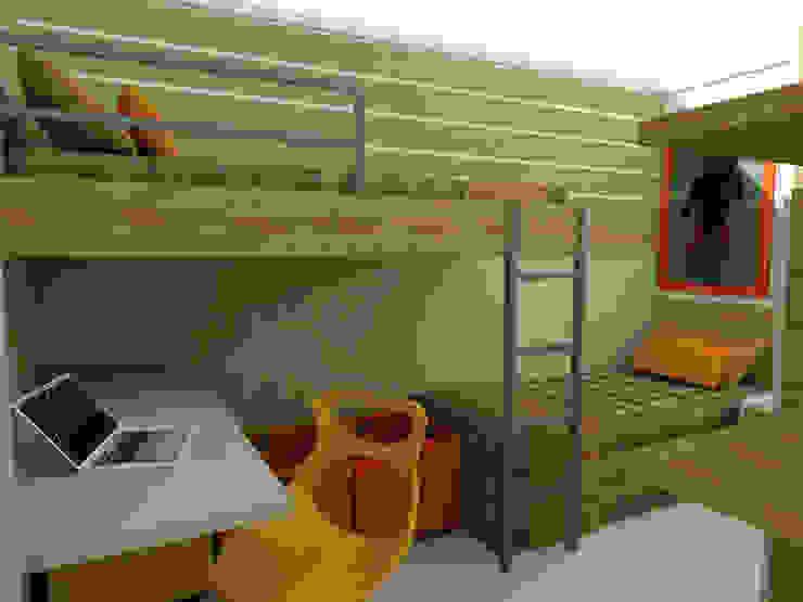 Chambre d'enfant moderne par Nádia Catarino - Arquitetura e Design de Interiores Moderne Bois Effet bois