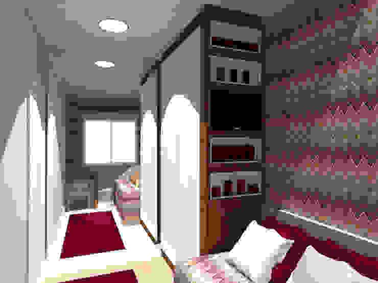 Dormitório Menina LB Quartos modernos por Nádia Catarino - Arquitetura e Design de Interiores Moderno Madeira Efeito de madeira