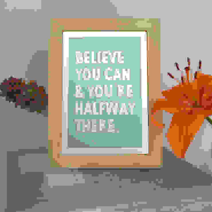 :: BELIEVE YOU CAN :: de MUSH HOME Clásico Madera Acabado en madera