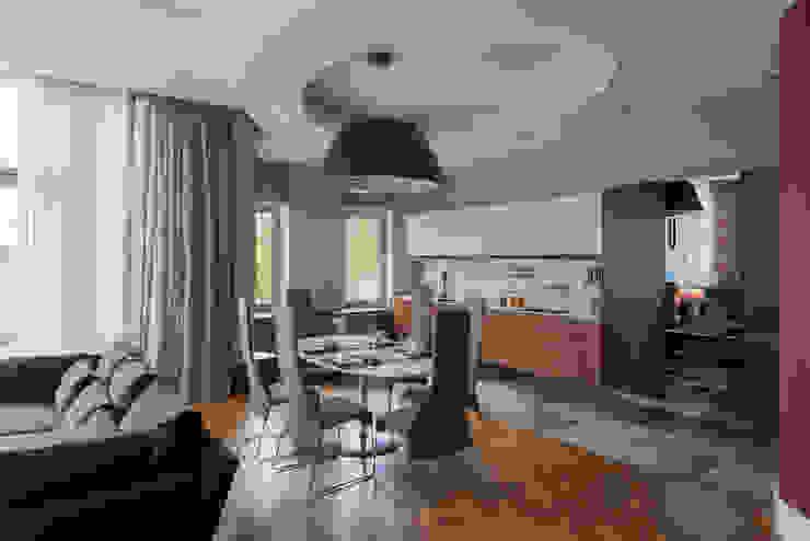 Кухня-столовая зона общего пространства Столовая комната в эклектичном стиле от Format A5 Fontanka Эклектичный Дерево Эффект древесины