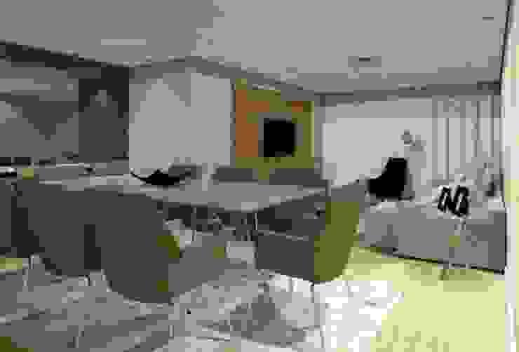 Salas Estar e Jantar LT Salas de estar modernas por Nádia Catarino - Arquitetura e Design de Interiores Moderno Madeira Efeito de madeira
