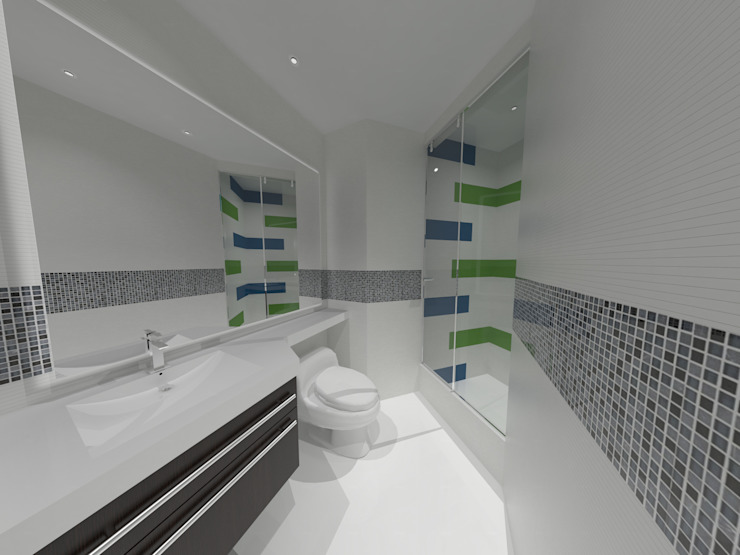 Baño Niños Baños de estilo minimalista de Vowen Minimalista