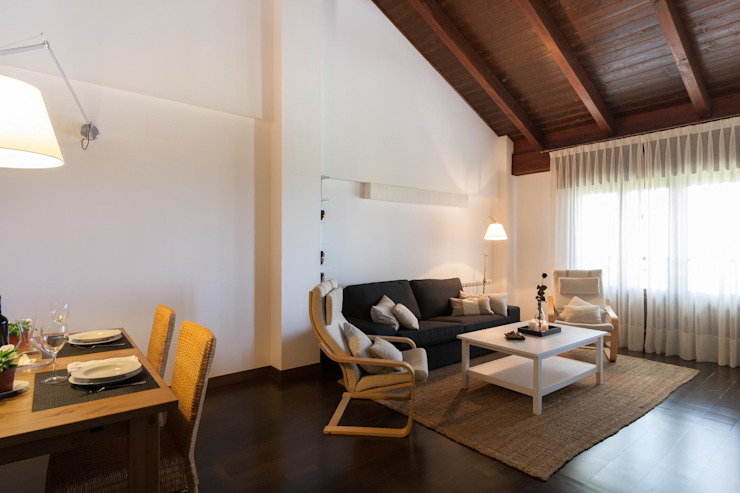 HOME STAGING ALQUILER Salones de estilo escandinavo de Become a Home Escandinavo