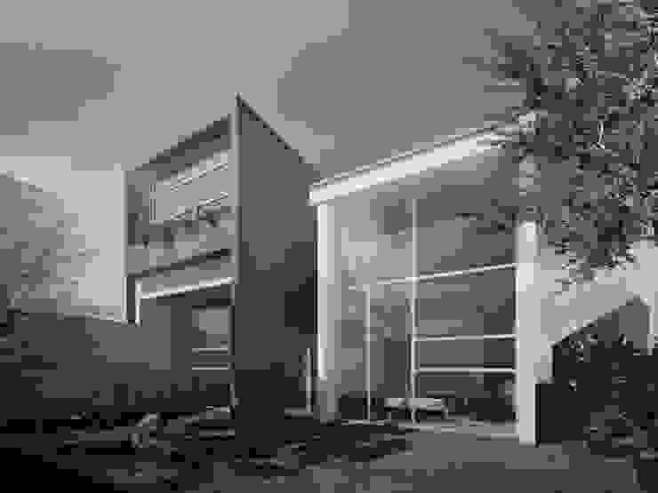 Maisons minimalistes par TAQ arquitectura Minimaliste Béton