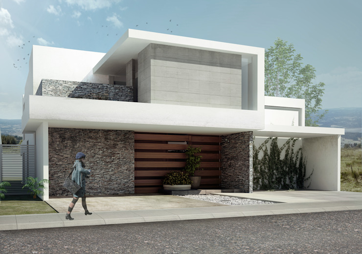 Houses by TAQ arquitectura, Minimalist Stone