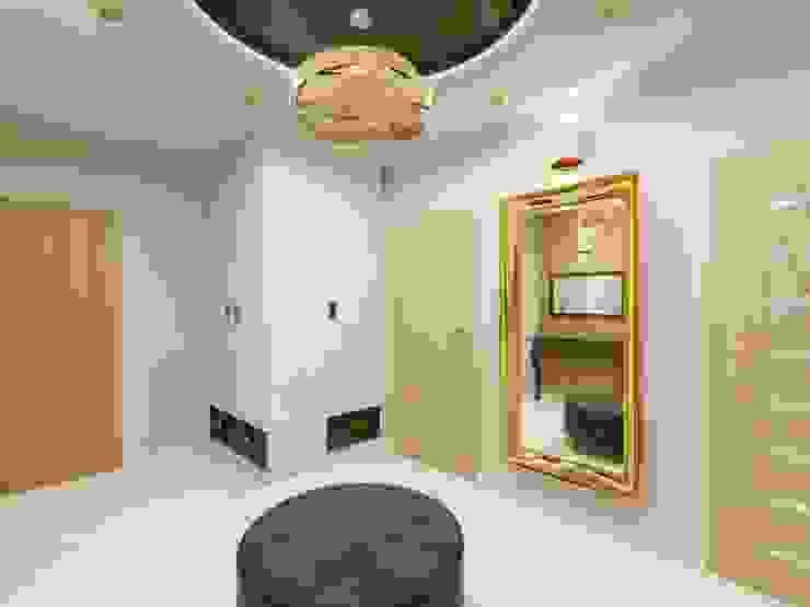 Wnętrze bogato zaaaranżowanego korytarza Nowoczesny korytarz, przedpokój i schody od Bohema Design Nowoczesny