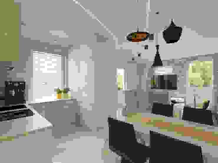 Salon połączony z kuchnią Nowoczesna jadalnia od Bohema Design Nowoczesny