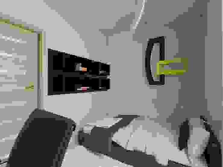 Projekt sypialni Nowoczesna sypialnia od Bohema Design Nowoczesny