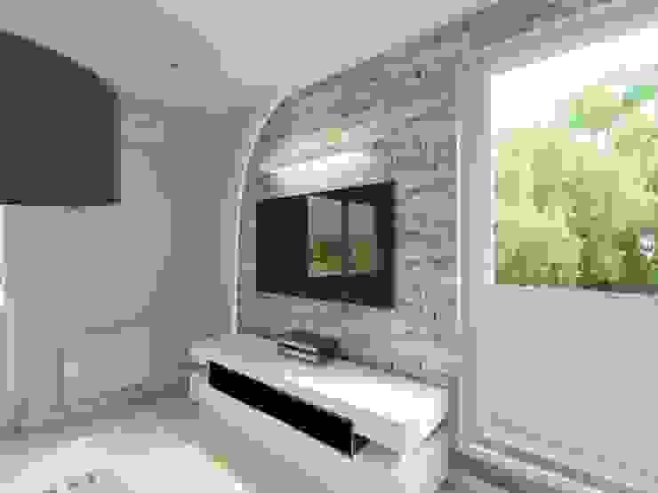 Projekt wnętrza salonu Nowoczesny salon od Bohema Design Nowoczesny