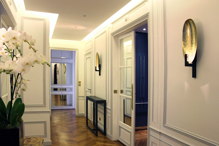 Olivier Stadler Architecte Classic style corridor, hallway and stairs