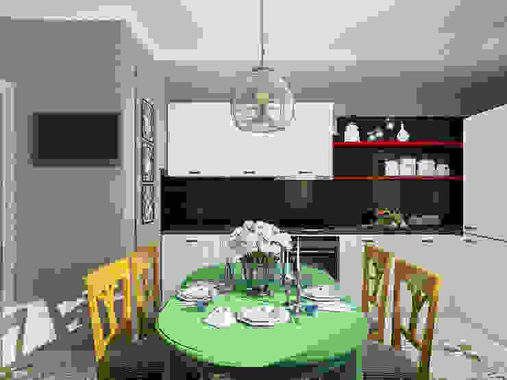 Eclectic style kitchen by EEDS дизайн студия Евгении Ермолаевой Eclectic