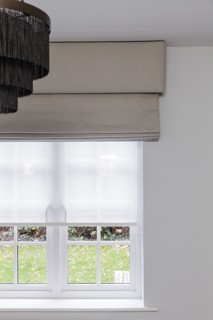Window Treatments Nowoczesna sypialnia od The White House Interiors Nowoczesny