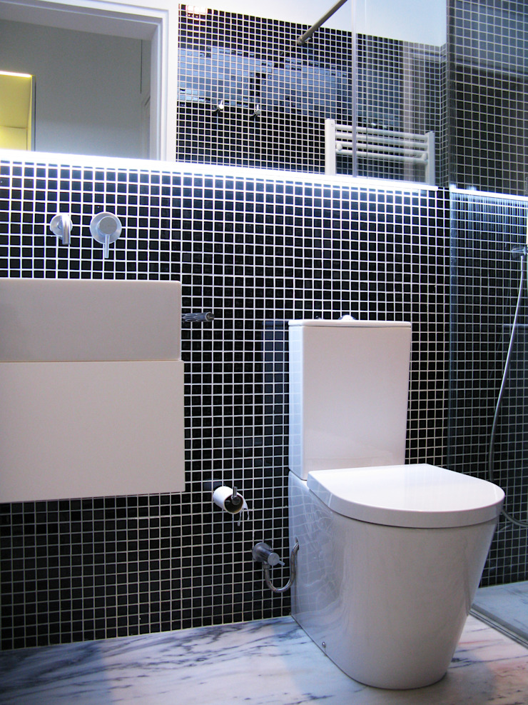 Mosque Apartment Casas de banho modernas por Palma Rato + Partners Moderno