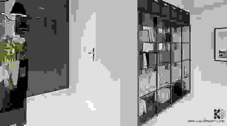 Dom w Grójcu Nowoczesny korytarz, przedpokój i schody od Klaudia Tworo Projektowanie Wnętrz Sp. z o.o. Nowoczesny