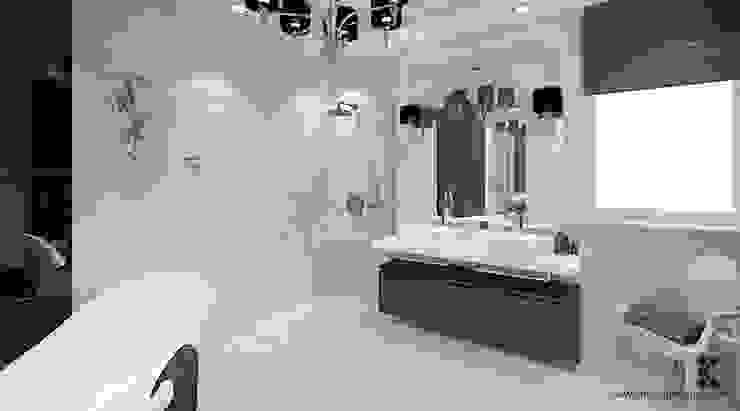 Dom w Grójcu Nowoczesna łazienka od Klaudia Tworo Projektowanie Wnętrz Sp. z o.o. Nowoczesny