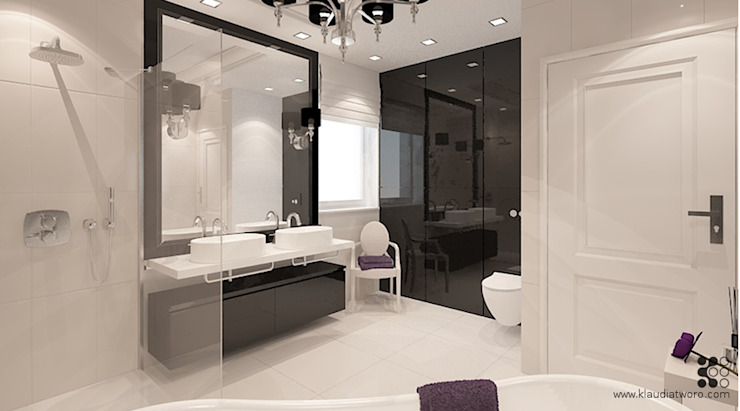 Klaudia Tworo Projektowanie Wnętrz Sp. z o.o. Modern style bathrooms