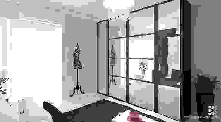 Dom w Grójcu Nowoczesna sypialnia od Klaudia Tworo Projektowanie Wnętrz Sp. z o.o. Nowoczesny