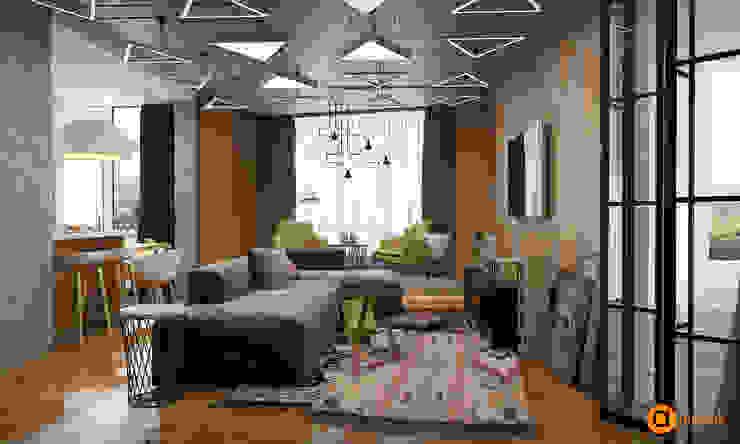 Livings de estilo  por Art-i-Chok