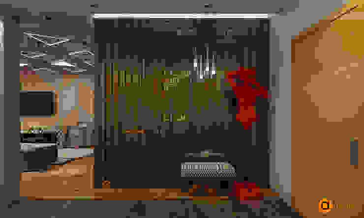 Pasillos, vestíbulos y escaleras de estilo industrial de Artichok Design Industrial