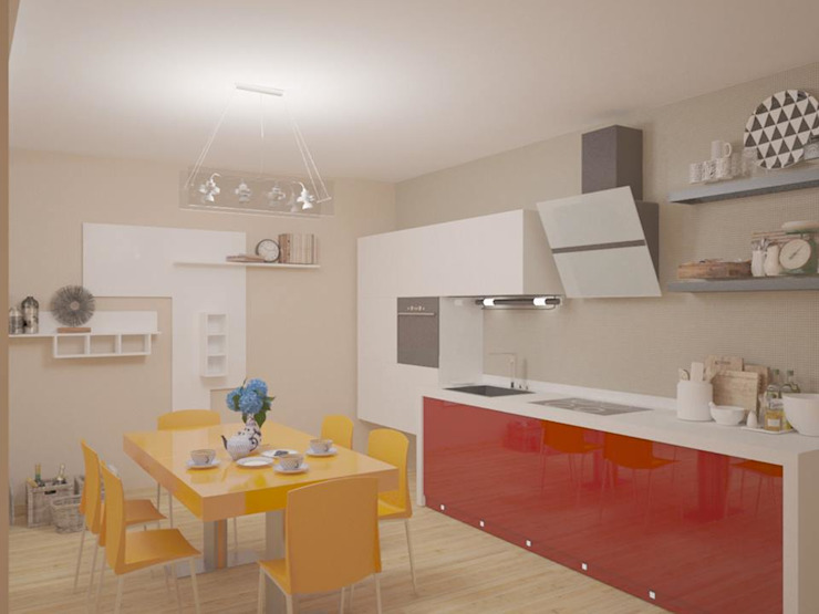 Zona cucina Cucina moderna di Arch. Sorbo Moderno