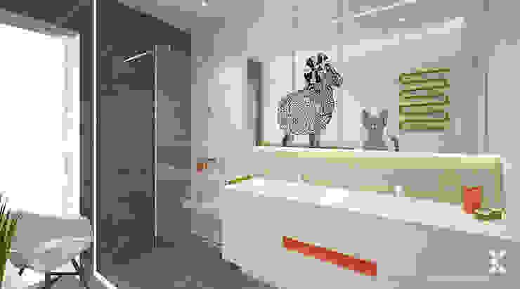ŁAZIENKA DLA MALUCHÓW - PASTELOWA MIĘTA Nowoczesna łazienka od Klaudia Tworo Projektowanie Wnętrz Sp. z o.o. Nowoczesny