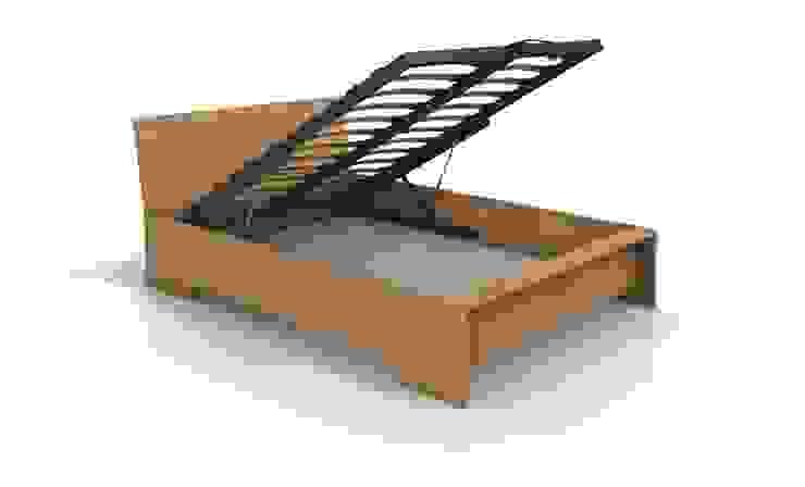 Łóżko bukowe Visby Lagerkvist High BC od visby.pl Nowoczesny Drewno O efekcie drewna