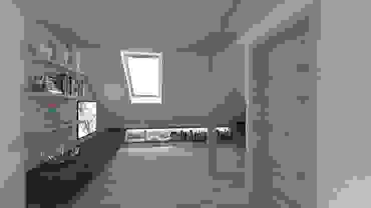 poddasze-strefa multimedialna Nowoczesny pokój multimedialny od Gil Architekci Nowoczesny