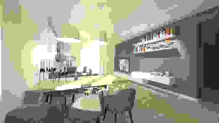 Salon z jadalnią Nowoczesny salon od Gil Architekci Nowoczesny