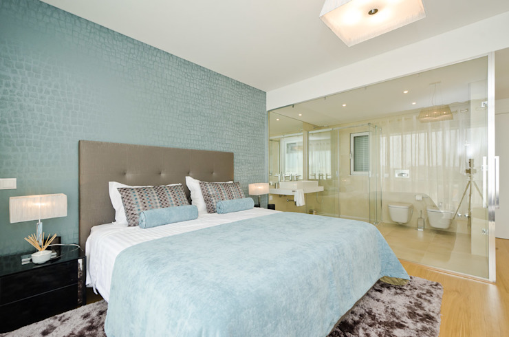 Private Interior Design Project - Albufeira Simple Taste Interiors Camera da letto moderna